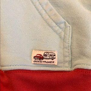 Janie and Jack Shirts & Tops - Janie and Jack zip up hoodie sweatshirt